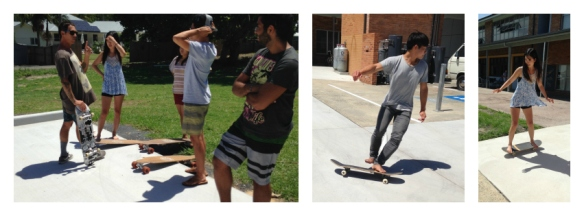 skateboarding collage 1