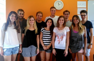 From left to right: Michelle, Miguel, Naomi, Tom, Aurelie, Raphael, Jasmin, Chris, Paola, Till