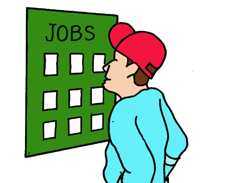 employment-support-cartoon-picture-of-a-man-looking-at-jobs-board-29081
