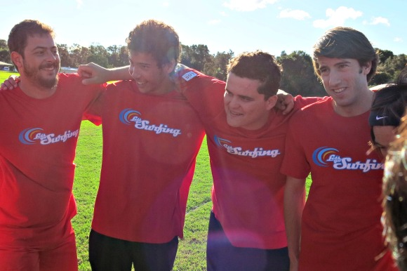 Richard and some of his teammates in the Soccer Challenge against another Byron Bay school