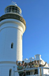 At the famous Byron Bay Lighthouse
