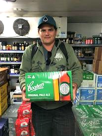 A carton of beer at the bottlo