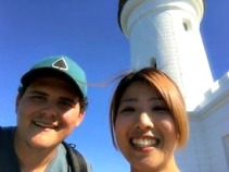 A selfie at the lighthouse