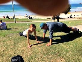Push Ups at Main Beach